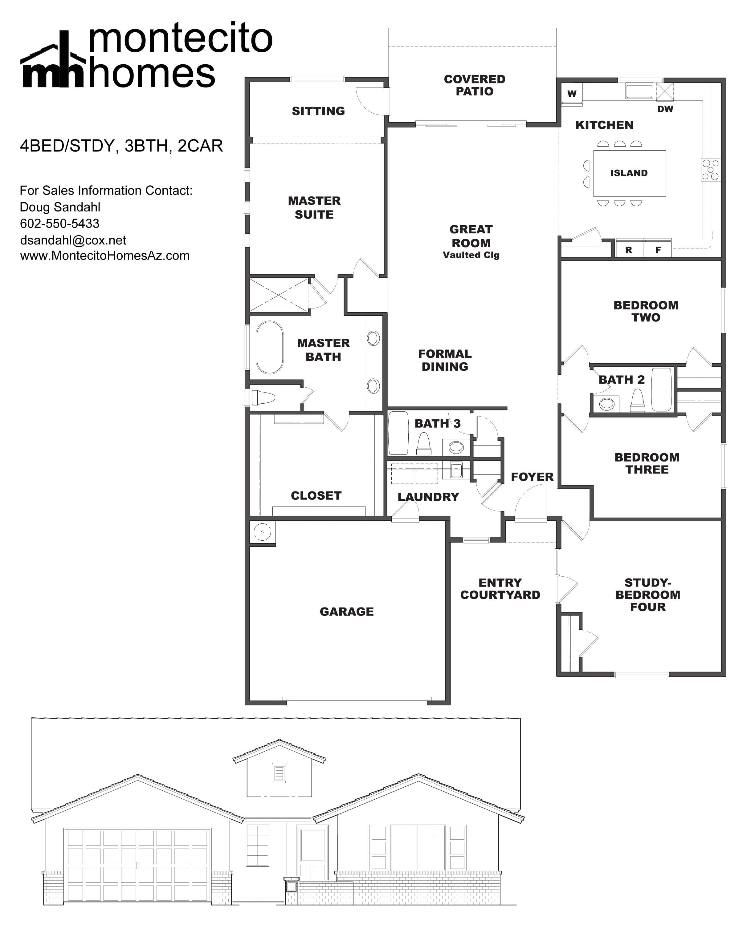 Montecito Homes Floorplan