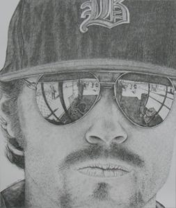 Coach, 17x20, pencil on bristol board