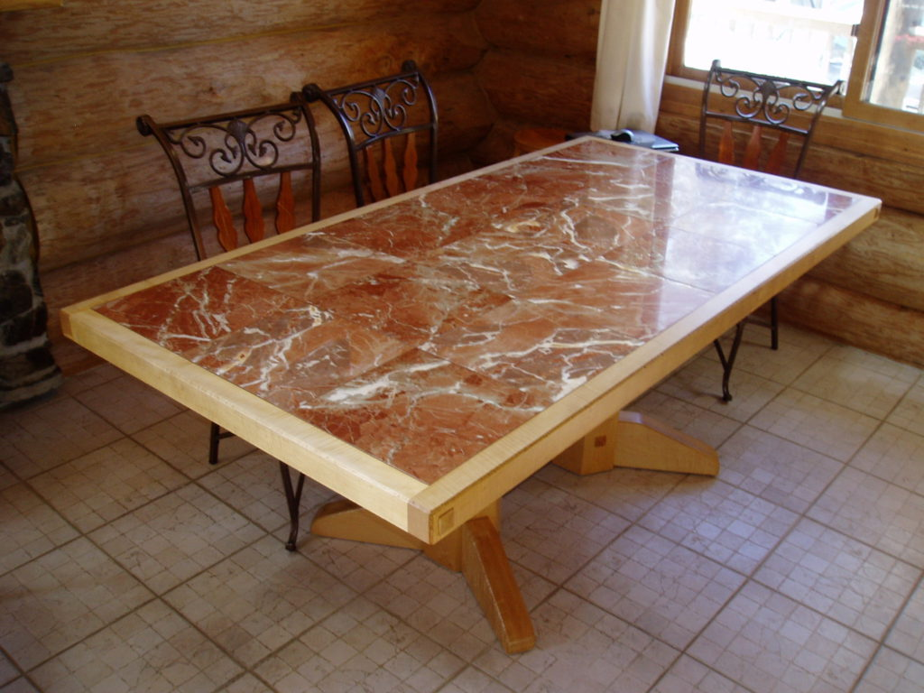 Curly Mable and Marble dining room table