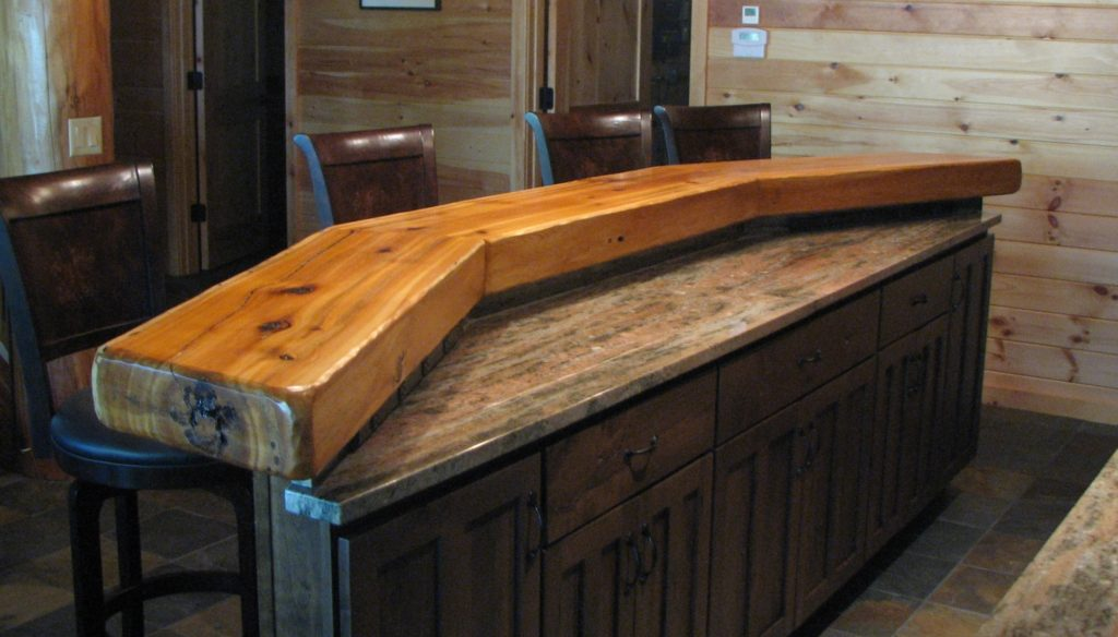 Thick Northern white cedar bar slab