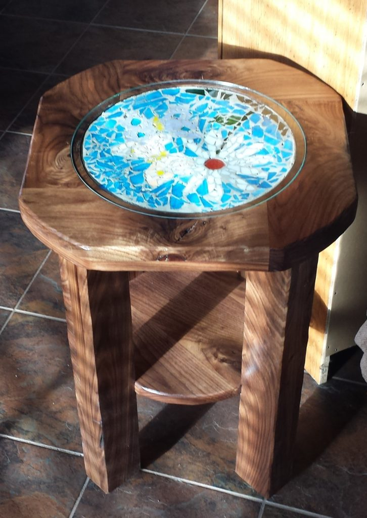 Walnut End table in sunlight