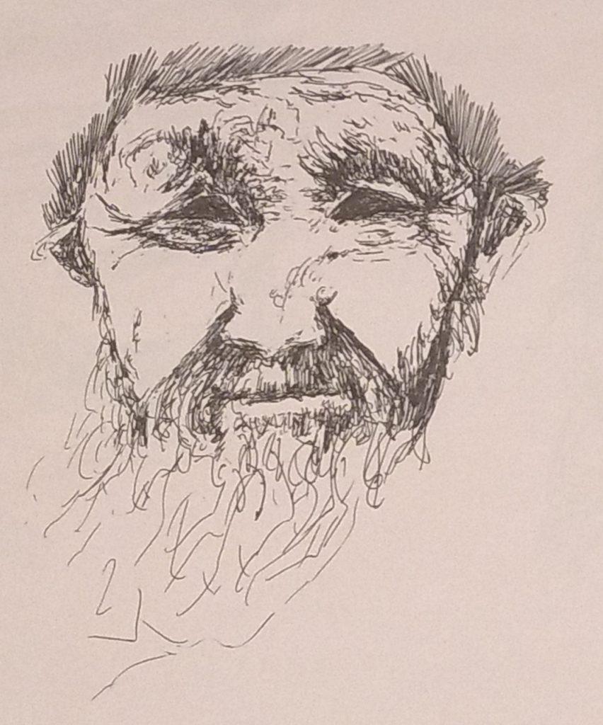Gel pen sketch by John Huisman