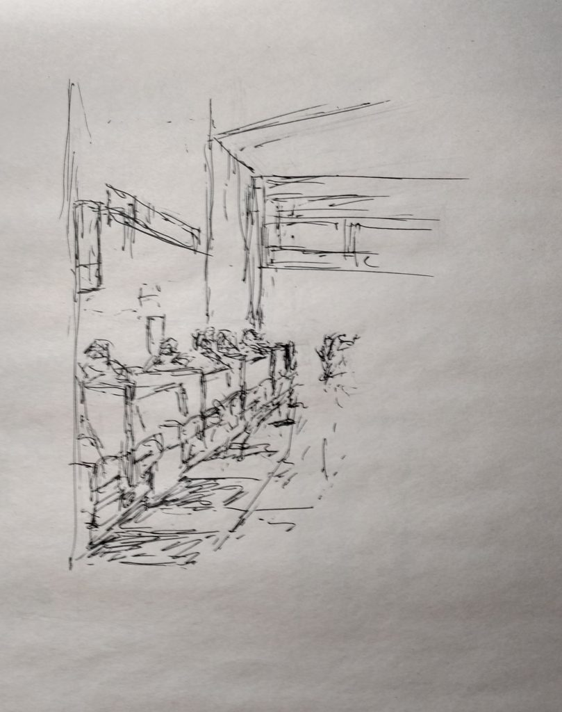 Sketches, pen, bilillo's J Huisman (1)