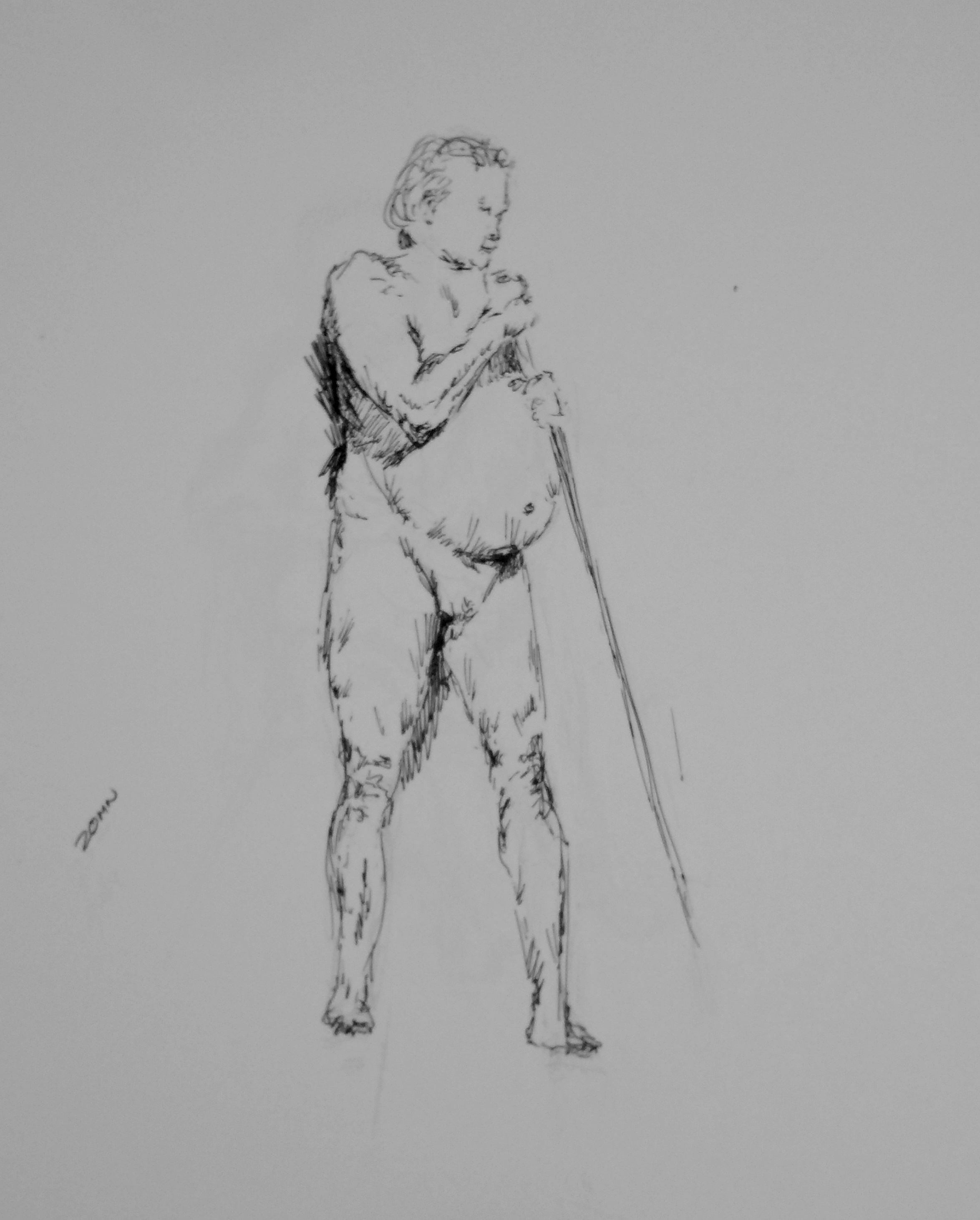 1/12/19 Art Works Figured drawing session, John Huisman