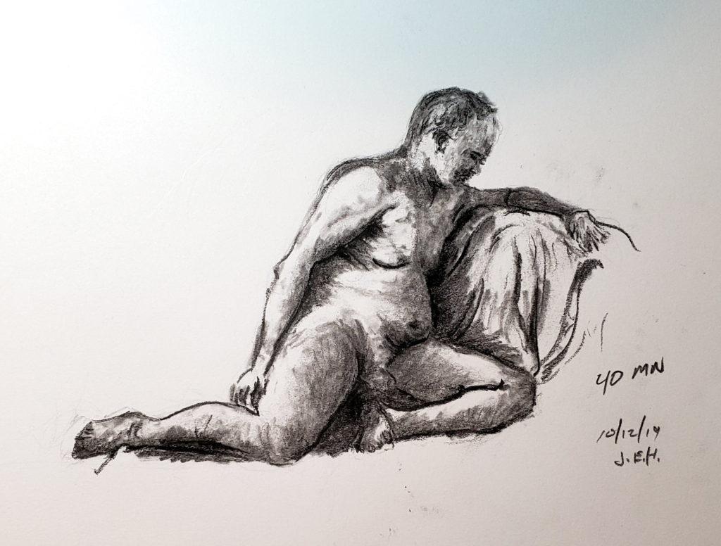 10/12/19 AWE figure drawing session, John Huisman