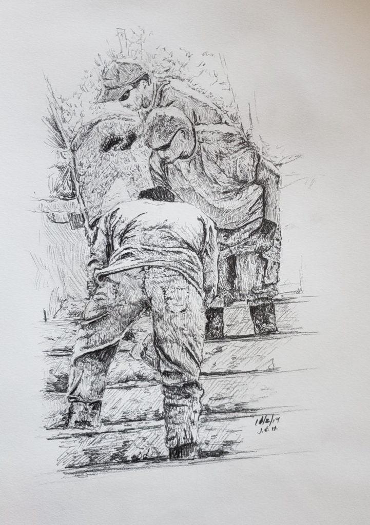 Pencil drawing by Minnesota artist John Huisman