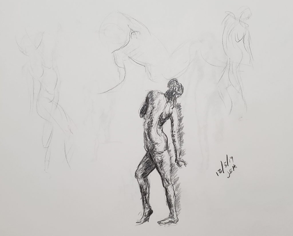Gesture drawings 2019 by John Huisman