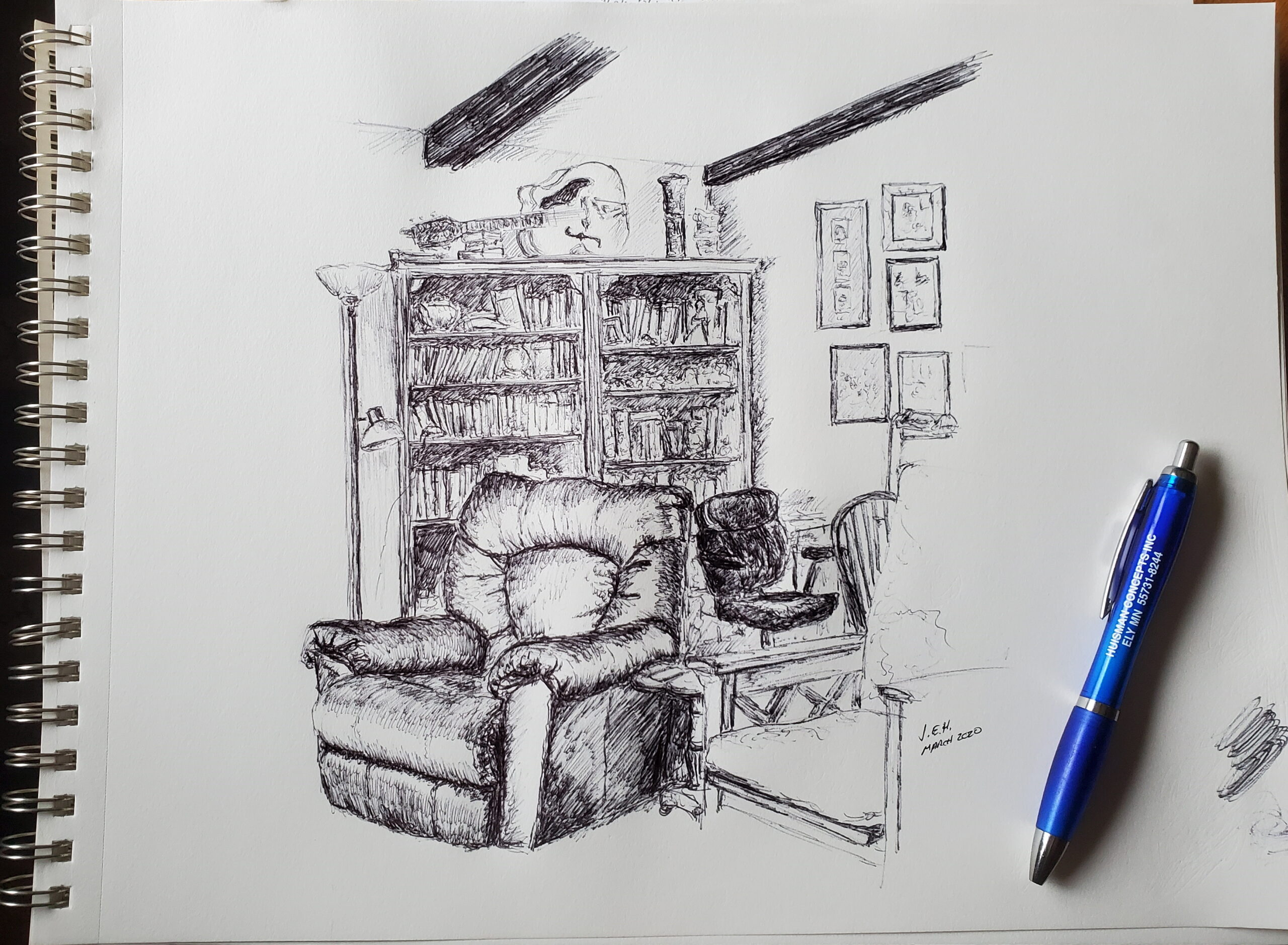 Ball Point pen sketch by John Huisman