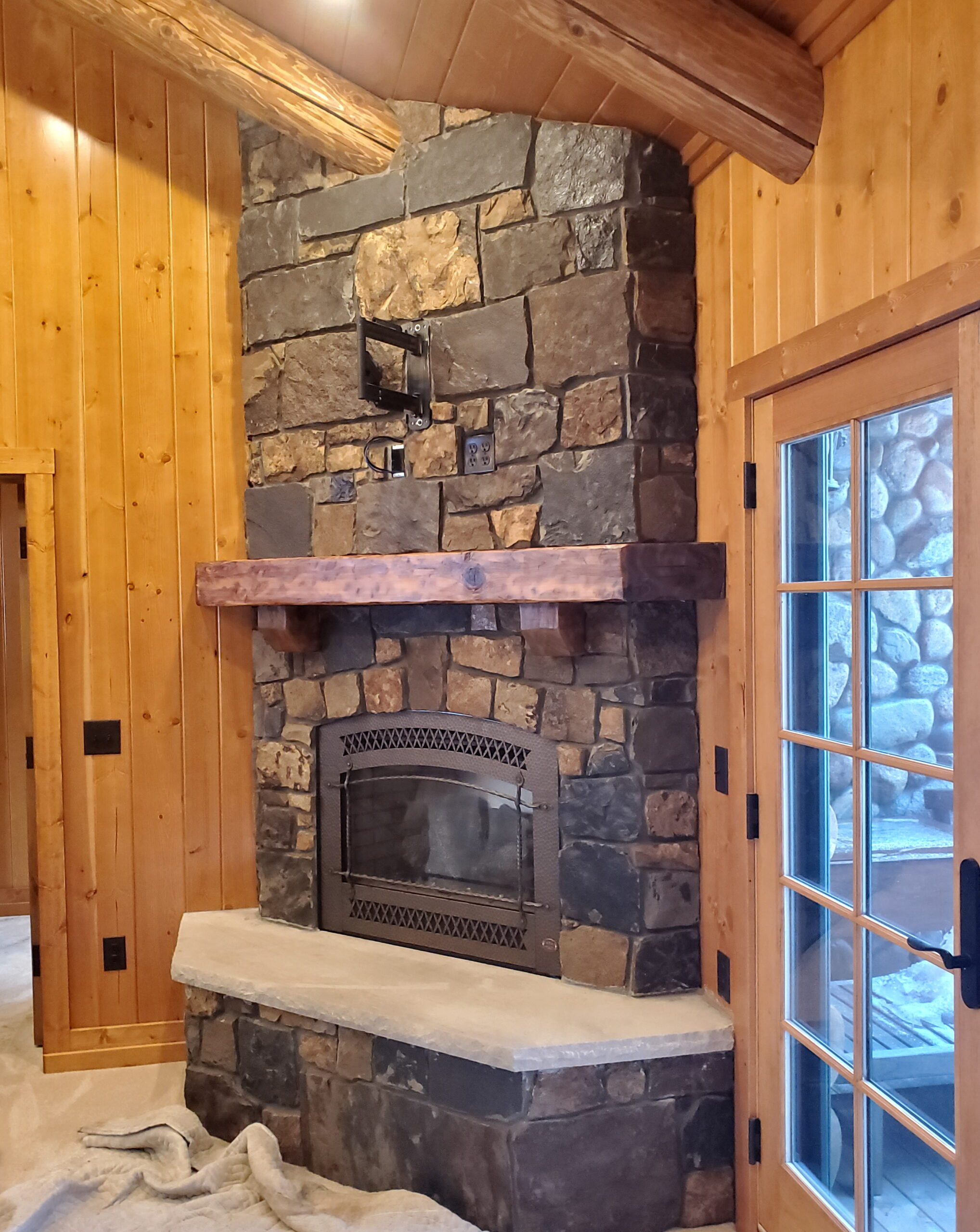 Custom fireplace mantel by John Huisman