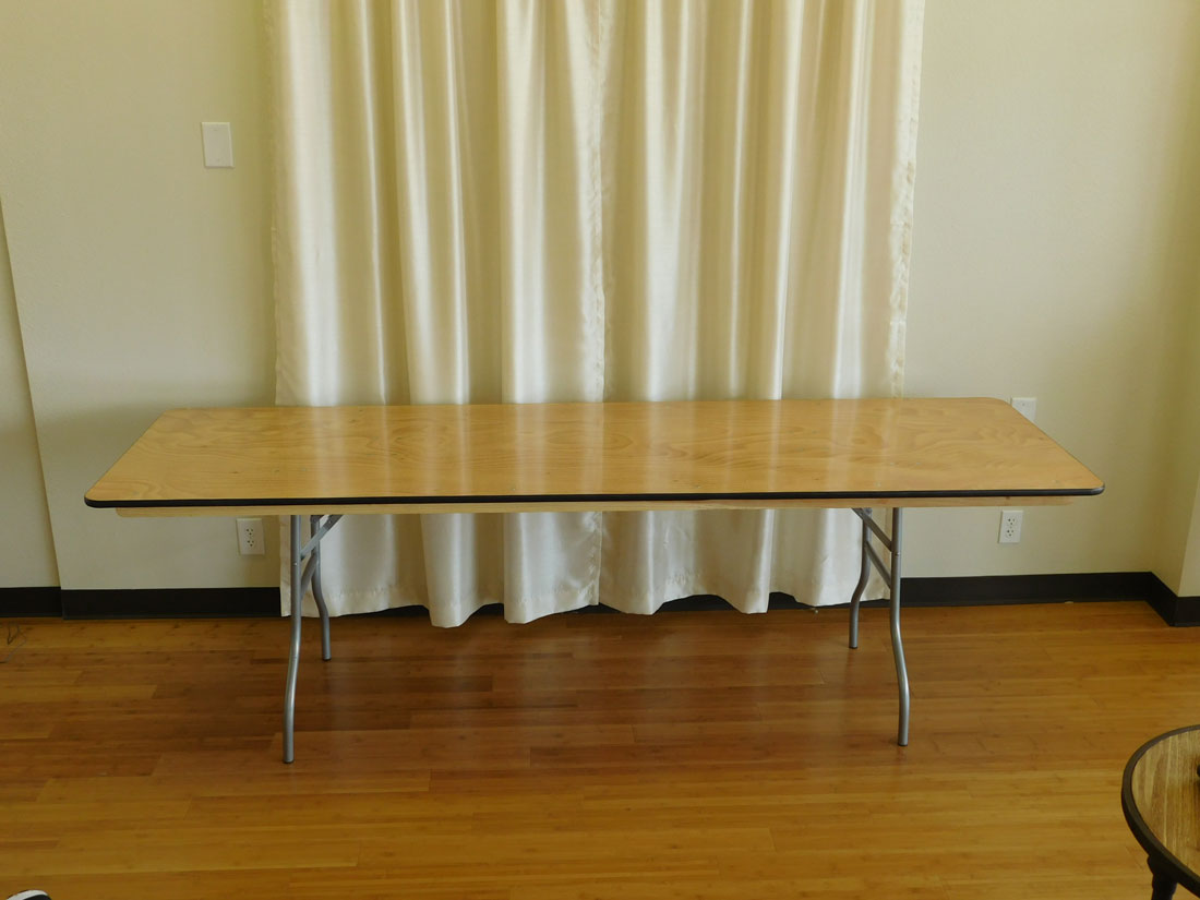 8 Foot Rectangular Banquet Table