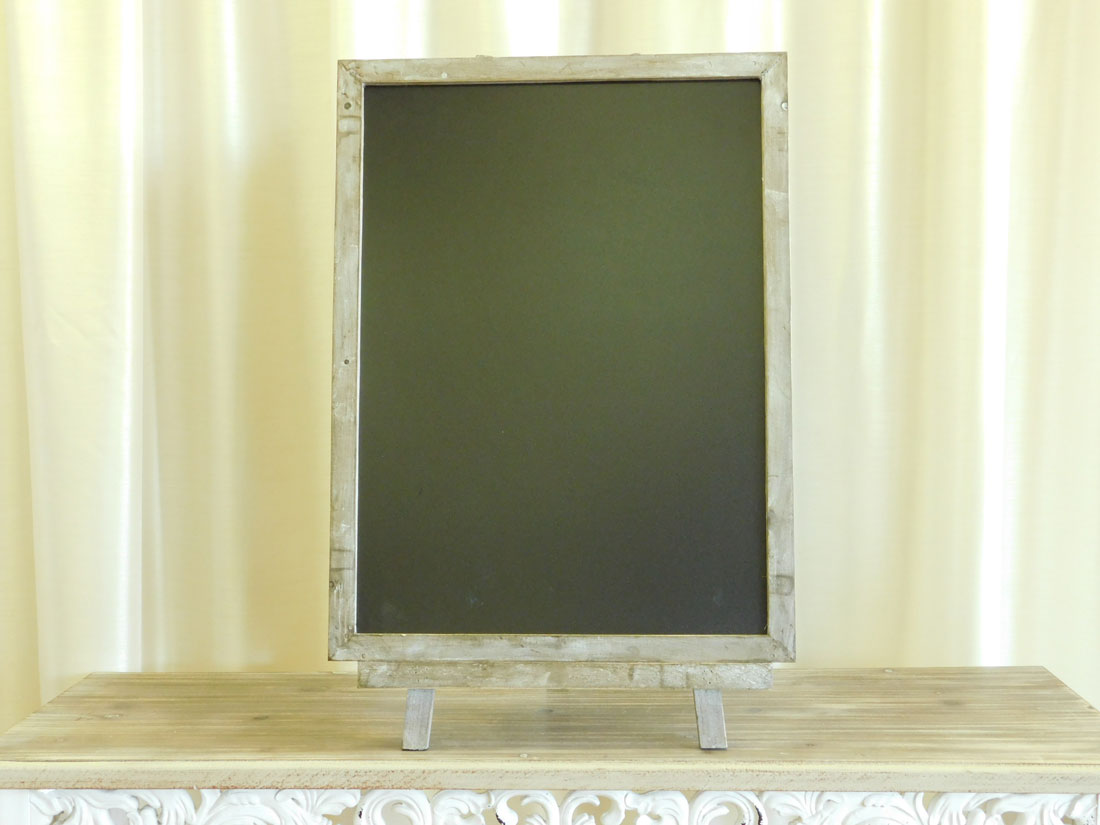 Aged Wood Frame Chalkboard Easel for event rental