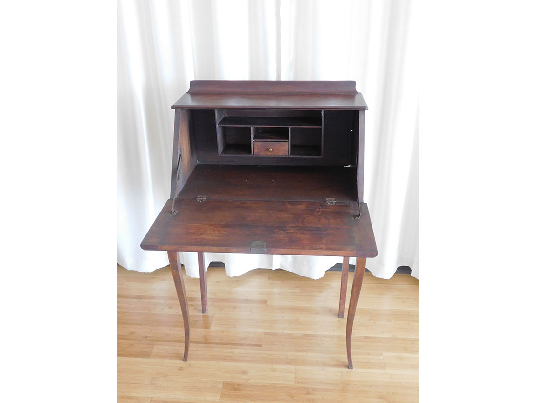 Antique writing desk pictured open
