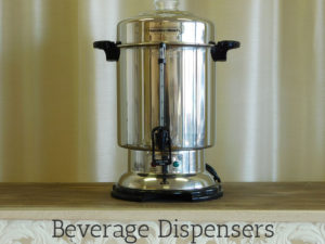 Beverage dispenser rentals for weddings and special events
