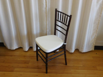 Chiavari chair with cushion for wedding and special event rental