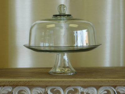 Crystal Cake Stand with Lid for Catering and Event Rental