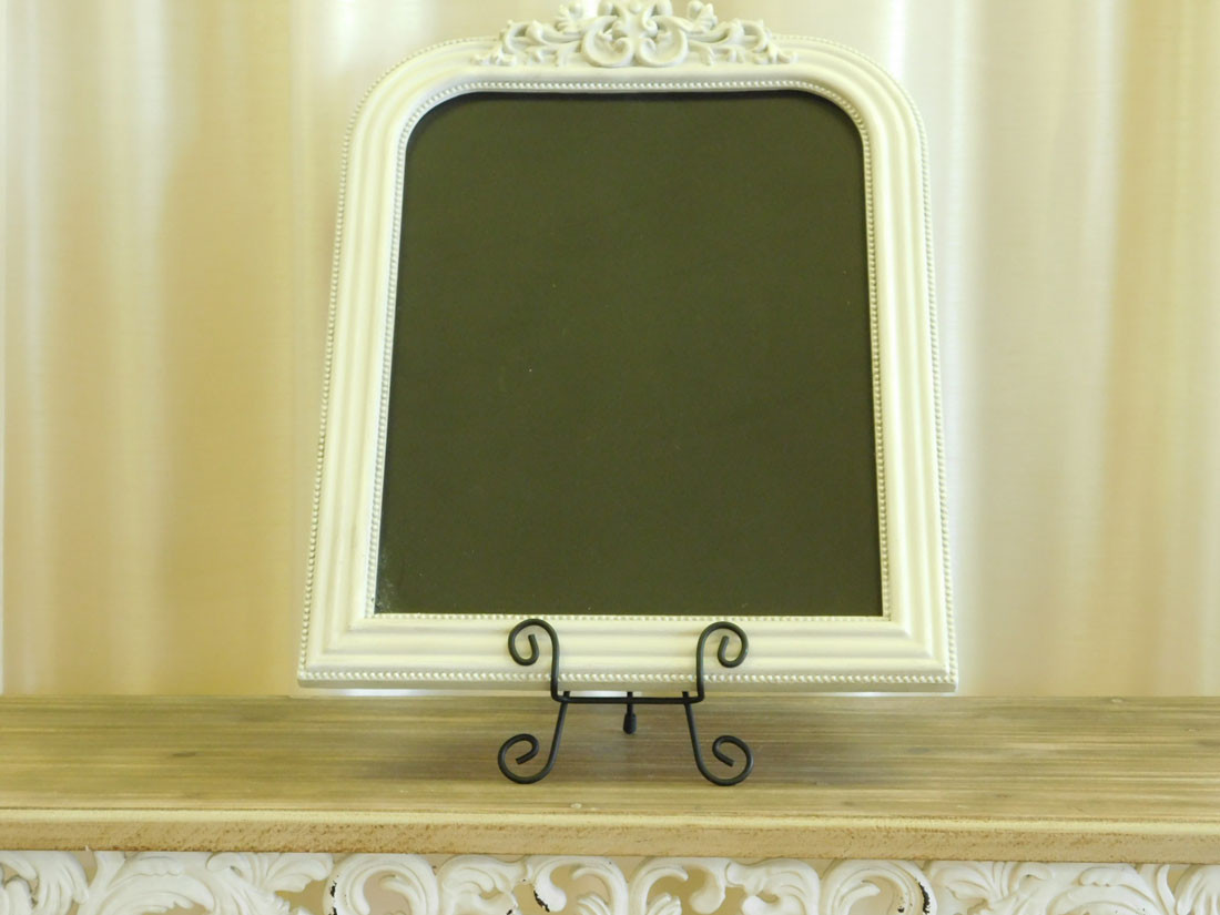 Elegant Vintage Ivory Chalkboard for special occasion decor rental