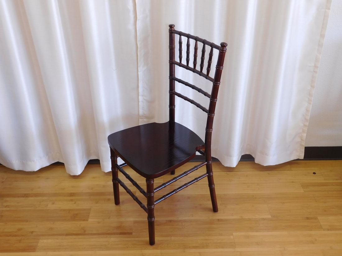 Fruitwood Chiavari Chair for wedding and event rental