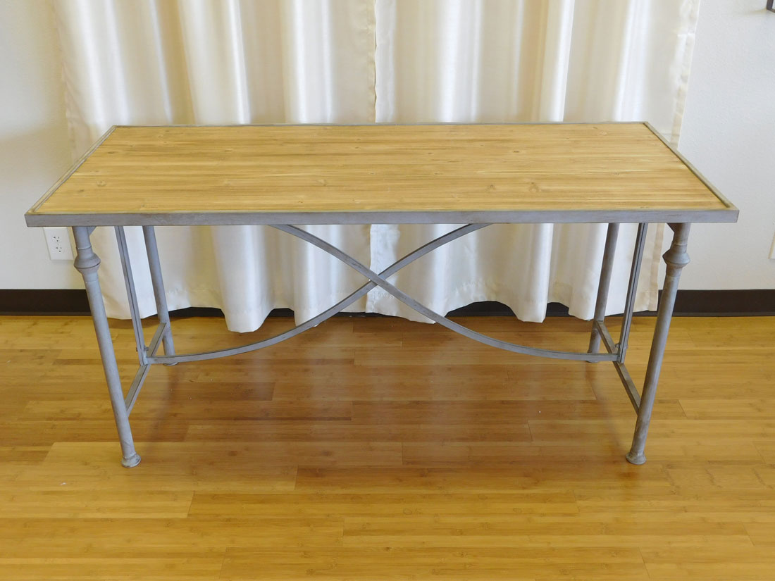 Grey-washed rustic rectangle table for rent