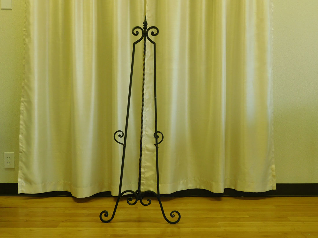 Large Portrait Easel for event and wedding rental
