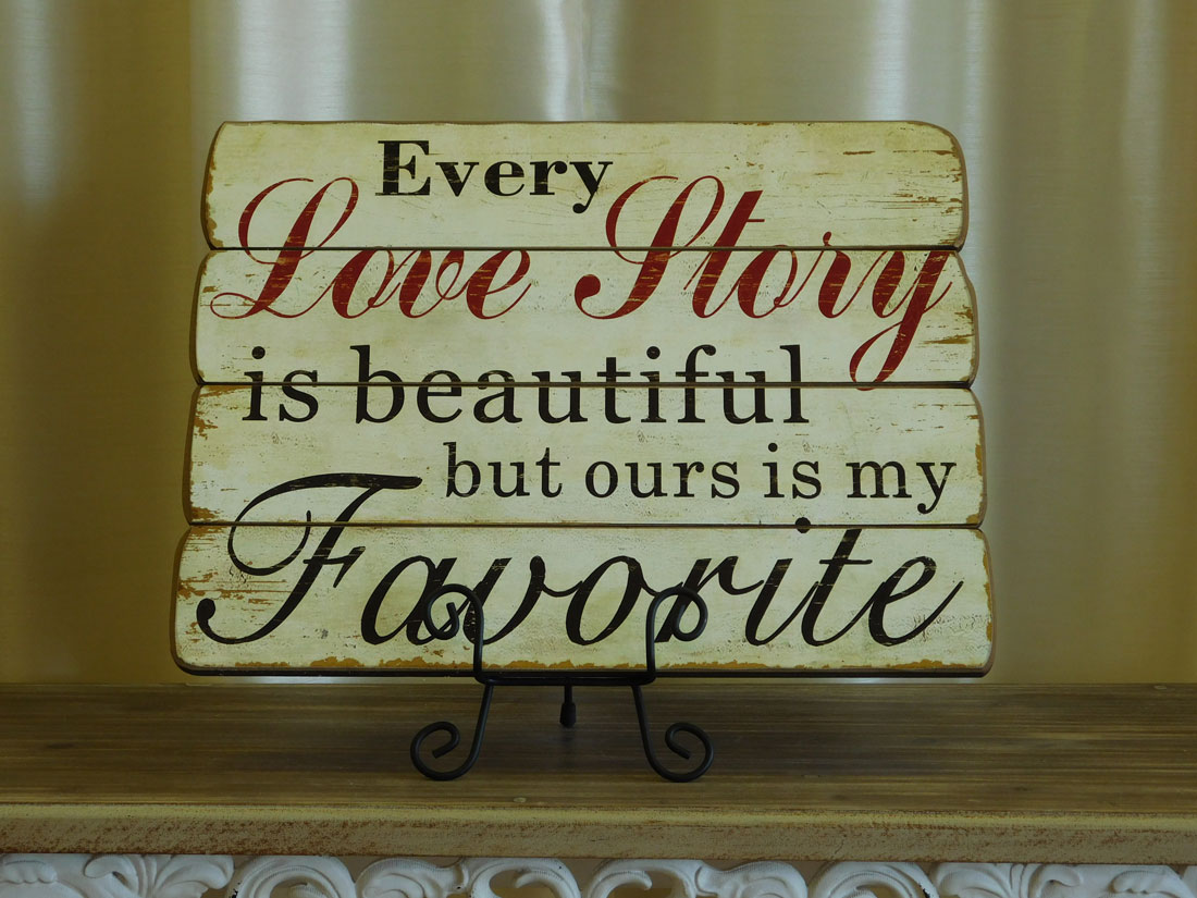 Rustic Love Story Wall Decor