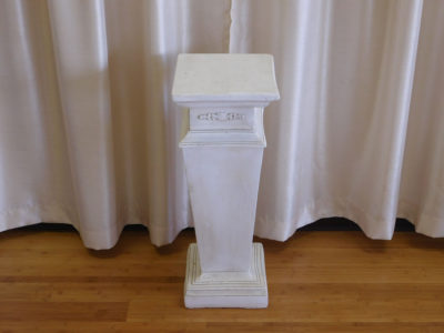 Short Ivory Column - Flower Design