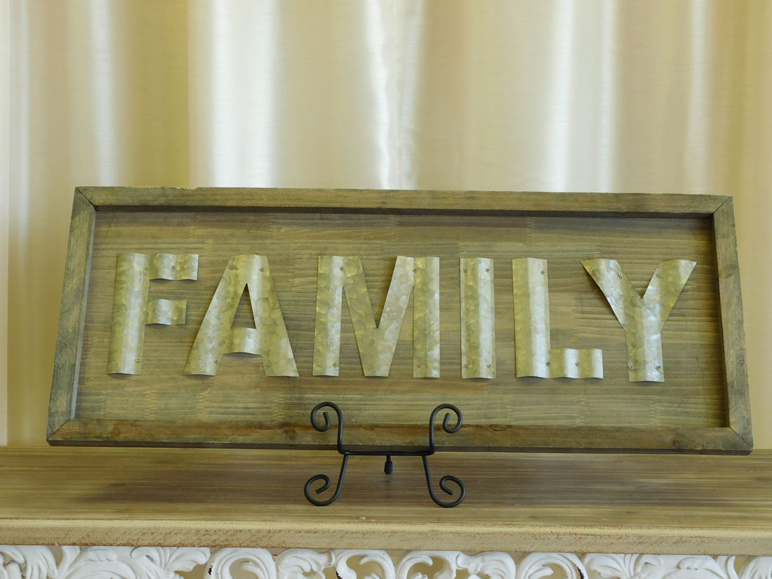 Wooden Wall Decor - Family