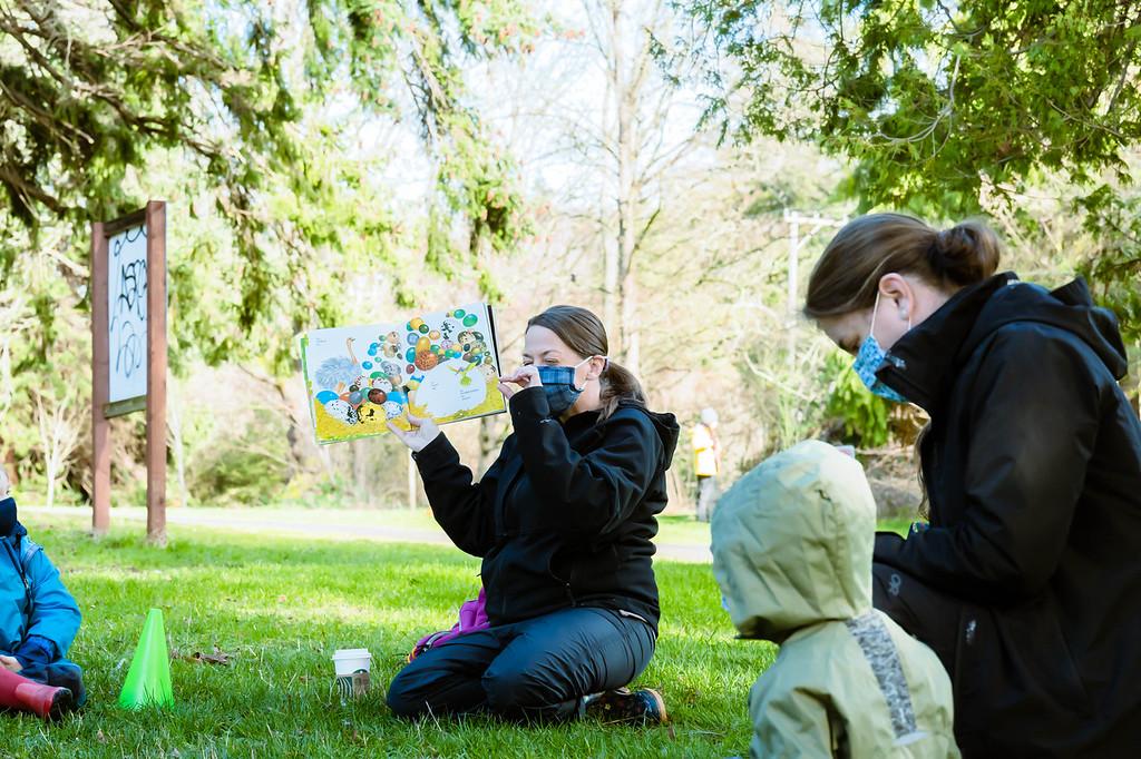 Teacher Jena at outdoor school