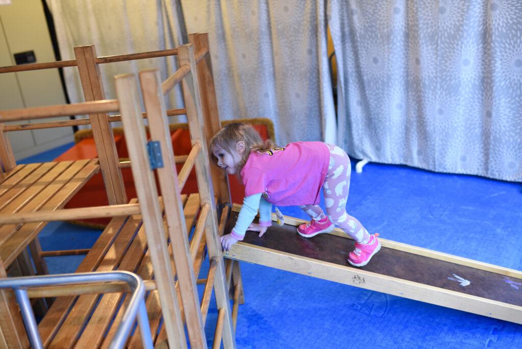 Climber room at Alki Co-op Preschool