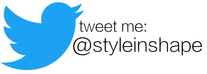 Follow Me on Twitter @styleinshape