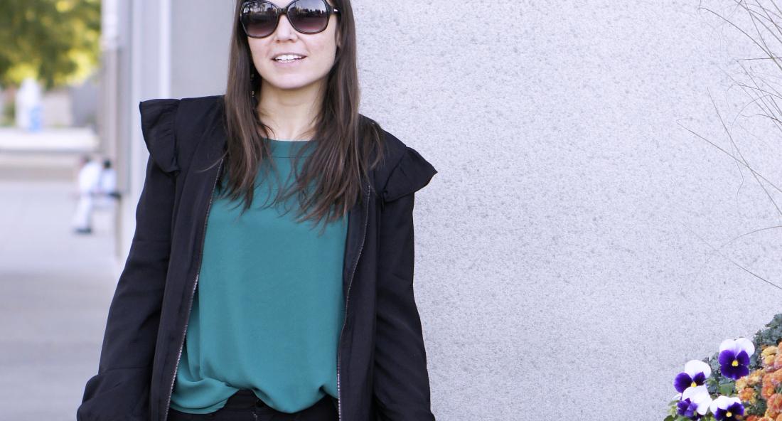 Ruffle Bomber Jacket | Style In Shape