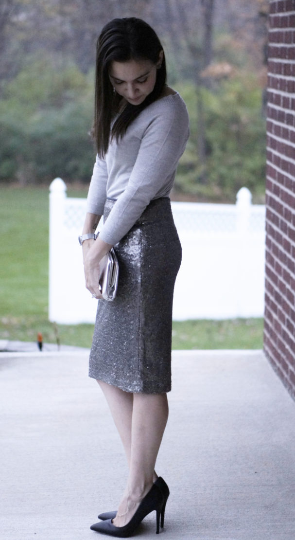Dressy Sequined Skirt   Style In Shape