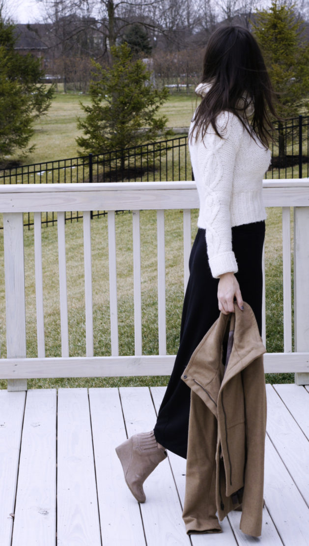 Crop Sweater Maxi Skirt for Winter | Style in Shape