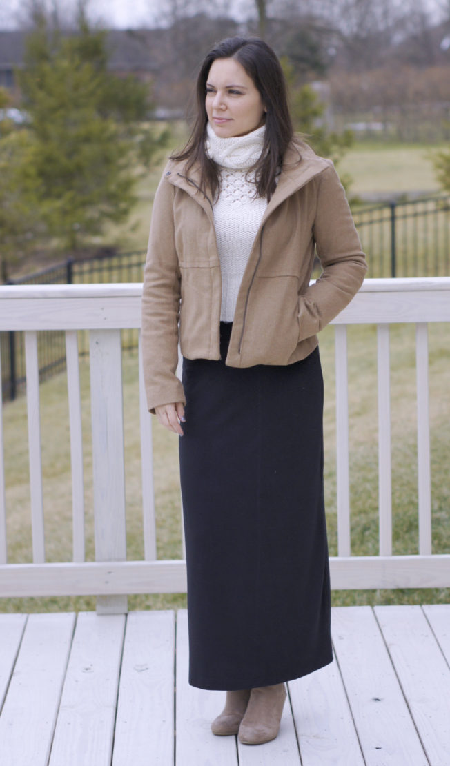 Winter Maxi Skirt Look | Style in Shape
