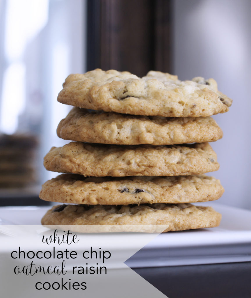 White Chocolate Chip Raisin Cookies