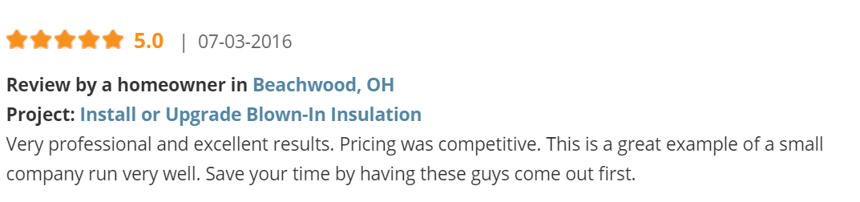 Beachwood Insulation Contractor