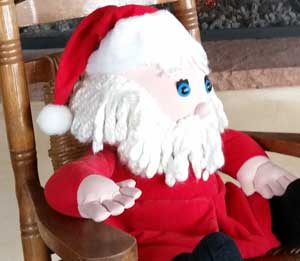 X-mas Santa in a Chair