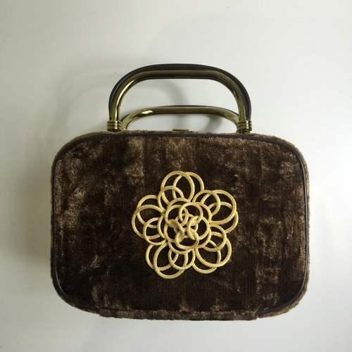 embellished vintage velvet evening bag
