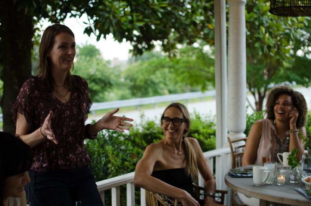 Porch Perfect Boss Lady Gathering at Red Egg
