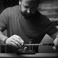 Dan building a custom fishing rod at the shop