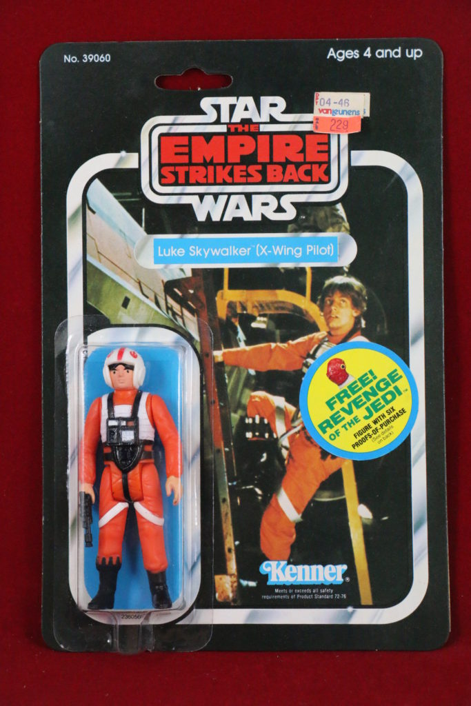 ESB Kenner Star Wars Luke Skywalker X-Wing Pilot 41 Back B Front
