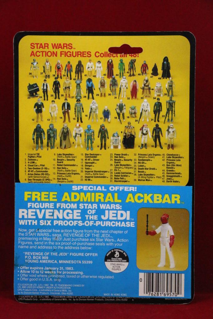 ESB Kenner Star Wars Luke Skywalker X-Wing Pilot 41 Back B Back