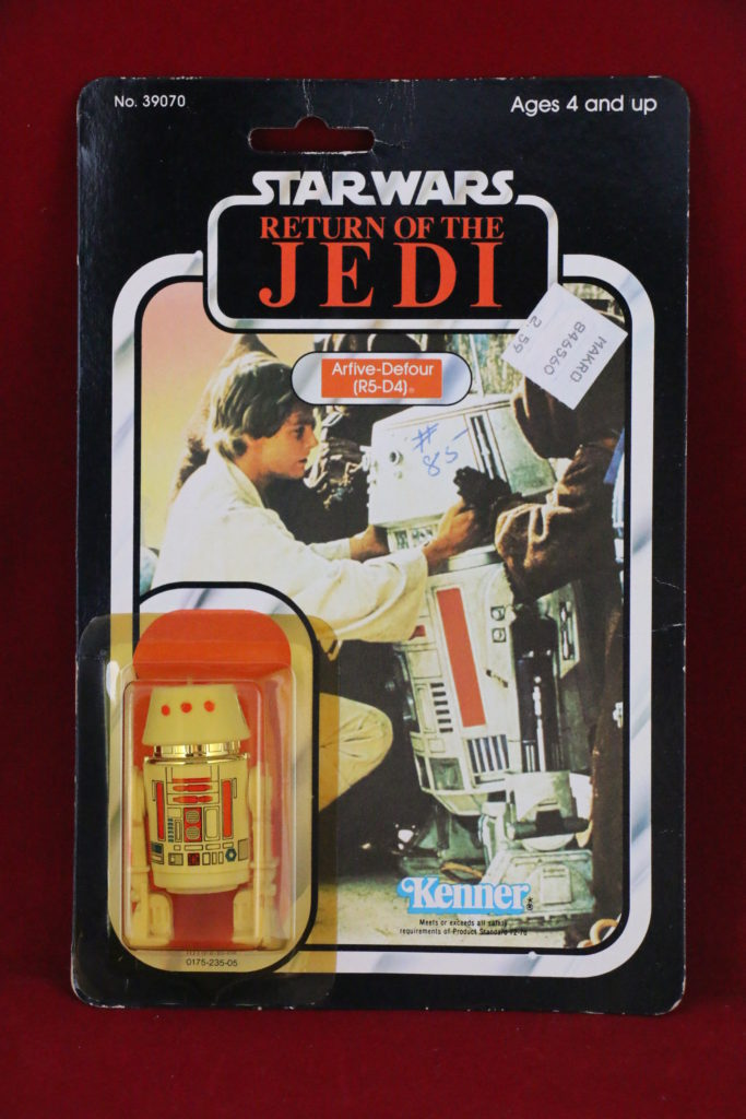 ROTJ Kenner Star Wars R5-D4 77 Back A Front