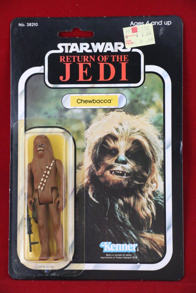 ROTJ Kenner Star Wars Chewbacca 77 Back A Front