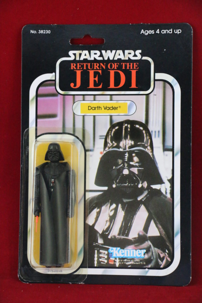ROTJ Kenner Star Wars Darth Vader 77 Back A Front