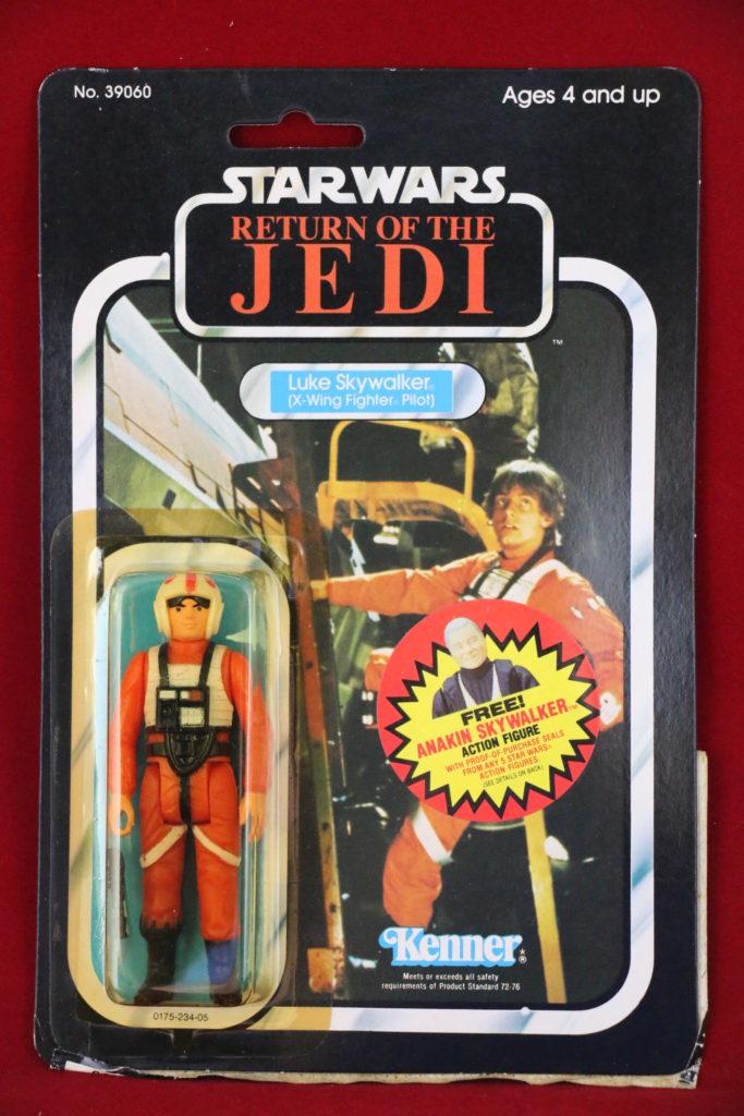 ROTJ Kenner Star Wars Luke Skywalker X-Wing 77 Back B Front