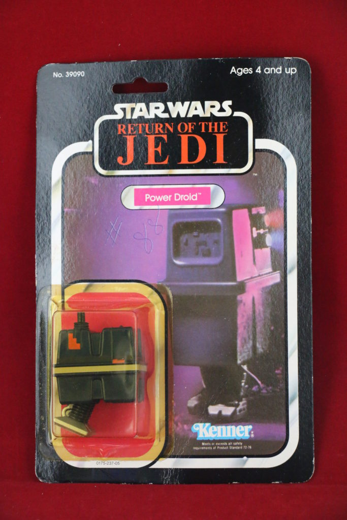 ROTJ Kenner Star Wars Power Droid 77 Back A Front