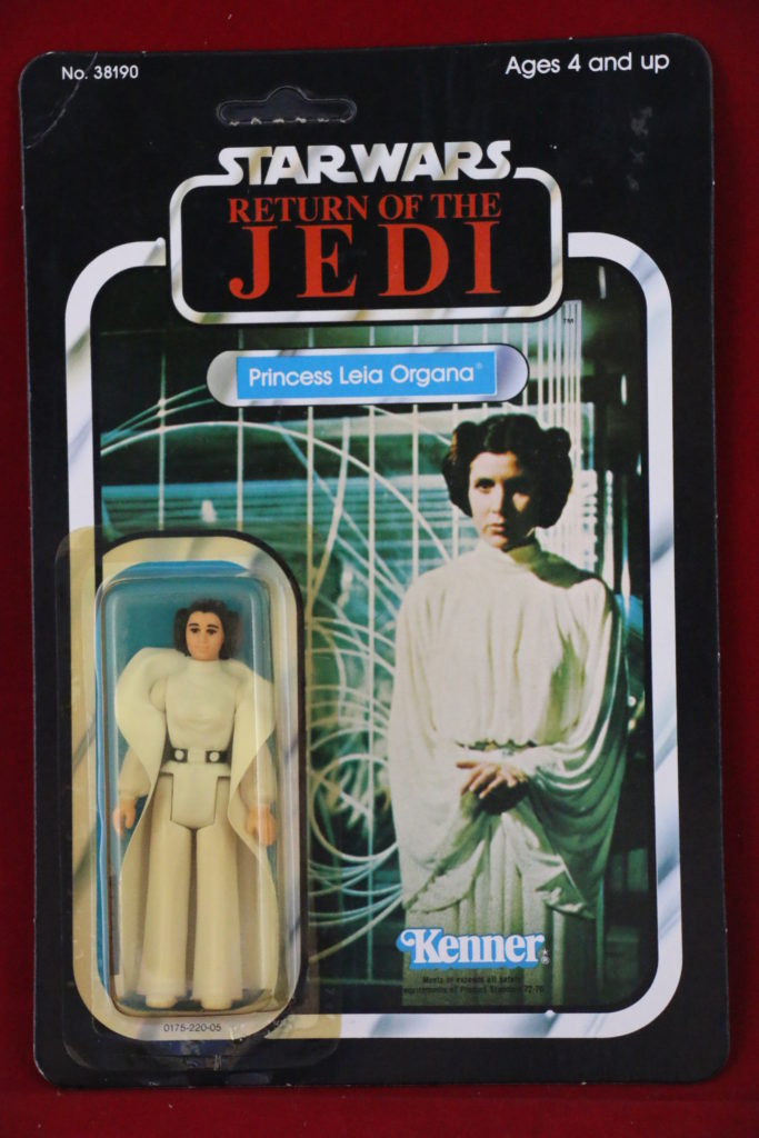 ROTJ Kenner Star Wars Princess Leia 77 Back A Front