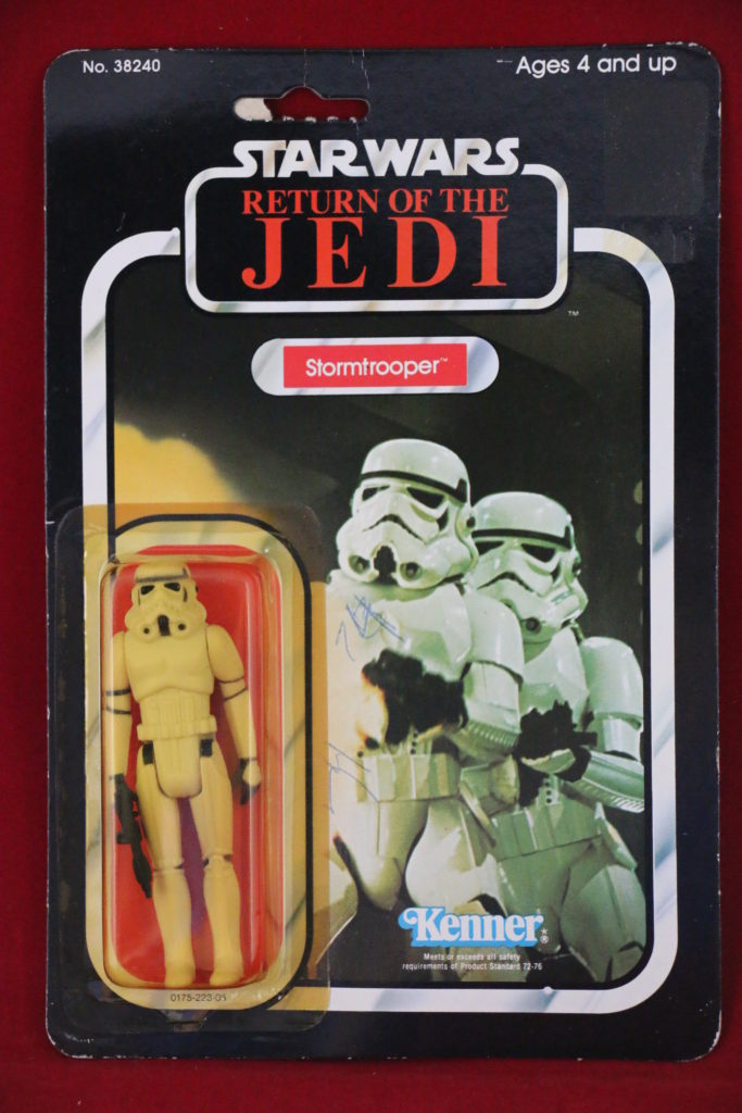 ROTJ Kenner Star Wars Stormtrooper 77 Back A Front
