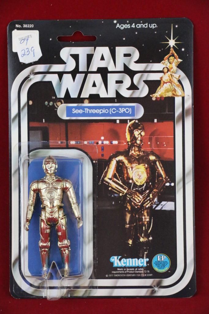 SW Kenner Star Wars C-3PO 12 Back A Front