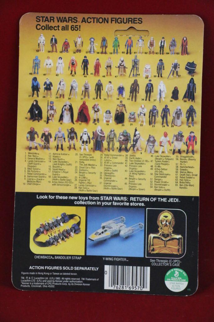 ROTJ Kenner Star Wars Admiral Ackbar 65 Back B